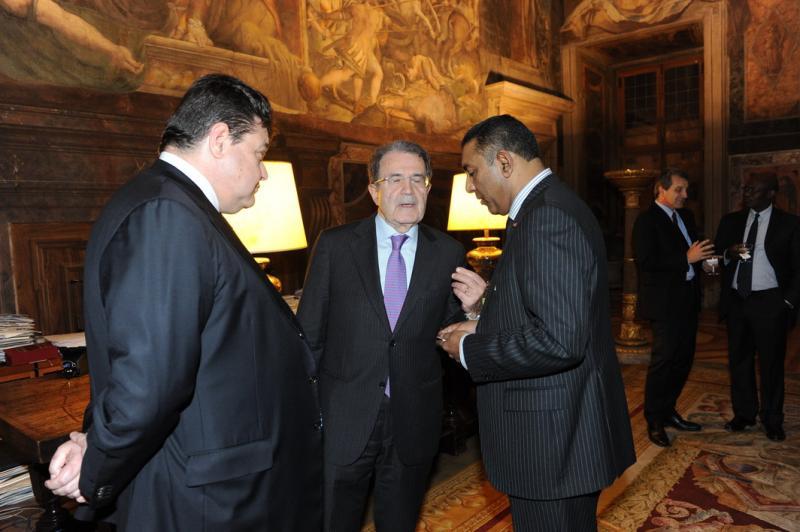 Mario Benotti Romano Prodi e Roney Simon