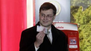 Il primo ministro lettone Valdis Dombrovskis