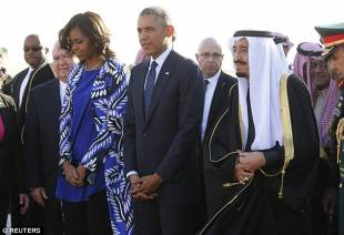 michelle e barack obama con re salman dell arabia saudita