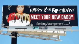 """""""seekingarrangement"""", ht billboard fathers day sk 140612 16x9 992"""