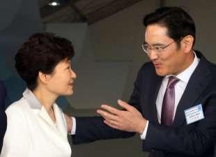 park geun hye con jay y lee di samsung