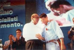 1991. bettino craxi congresso nazionale bologna 2 con luca josi