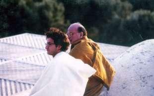 1997. bettino craxi casa hammamet 1 con luca josi