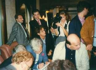 1998. bettino craxi convegno hammamet con luca josi