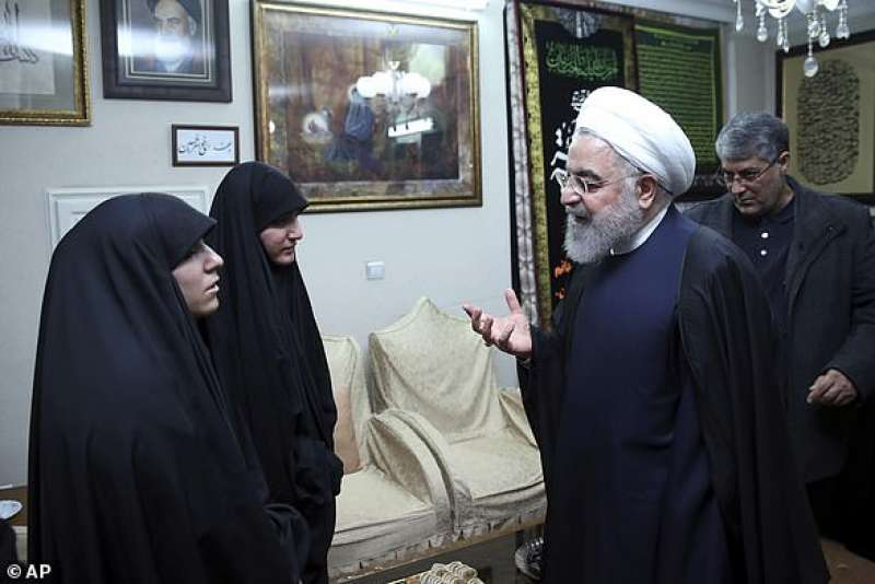 hassan rohani va a trovare le figlie di soleimani