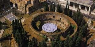 mausoleo di augusto dall'alto