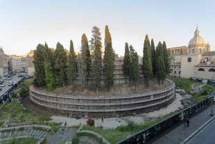 mausoleo di augusto prima del restaur