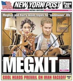 MEGEXIT - LA COPERTINA DEL NEW YORK POST SU MEGHAN E HARRY