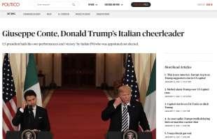 CONTE CHEERLEADER DI TRUMP - POLITICO