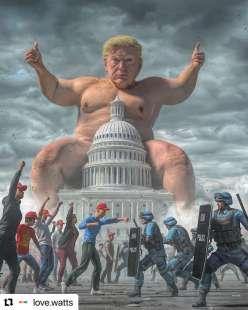 donald trump e l assalto al congresso meme