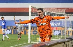 federico chiesa esulta dopo il gol – sampdoria juventus