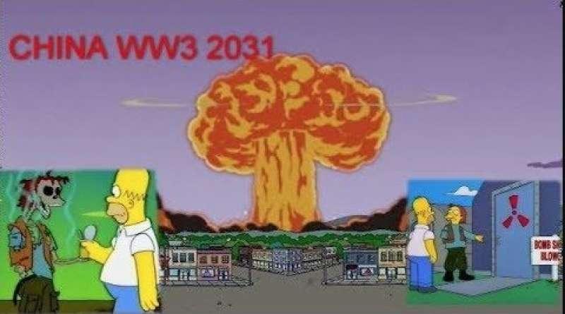 I SIMPSON E LA GUERRA MONDIALE CON LA CINA NEL 2031