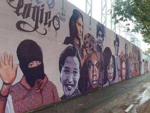 il murale contestato