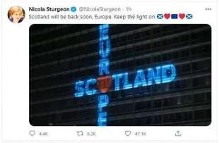 IL TWEET PRO EUROPA DI NICOLA STURGEON DOPO LA BREXIT