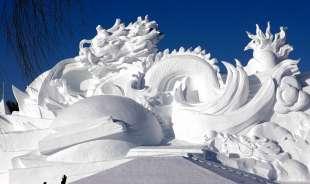 la citta' di ghiaccio dell'harbin ice and snow festival 2