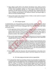 LA LETTERA DELLA COMMISSIONE UE SU ALITALIA