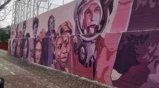 le donne raffigurate sul murale