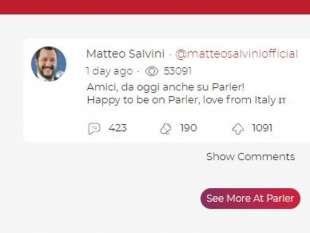 MATTEO SALVINI SU PARLER