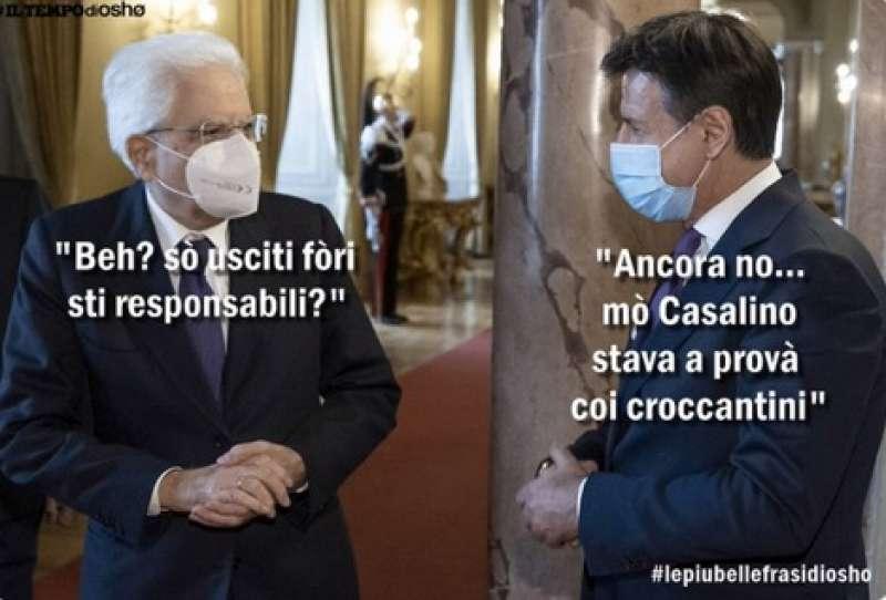 meme sulla crisi di governo mattarella e conte