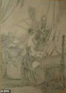 playing the piano di carl spitzweg