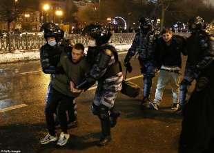 proteste per la liberazione di navalny 4