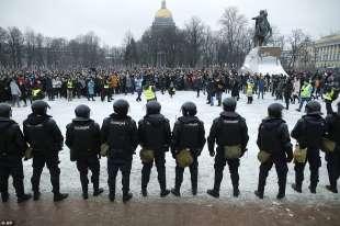 proteste per la liberazione di navalny 52