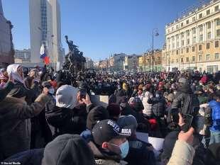 proteste per la liberazione di navalny 55