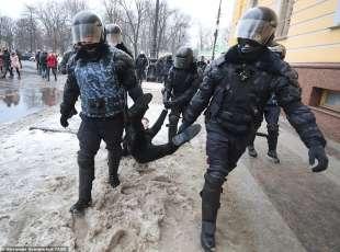 proteste per la liberazione di navalny 6