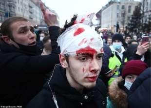 proteste per la liberazione di navalny 7