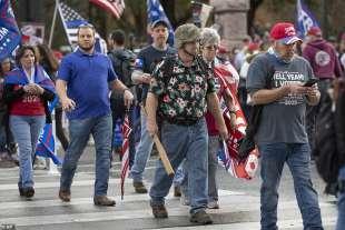 proteste pro trump a austin, texas