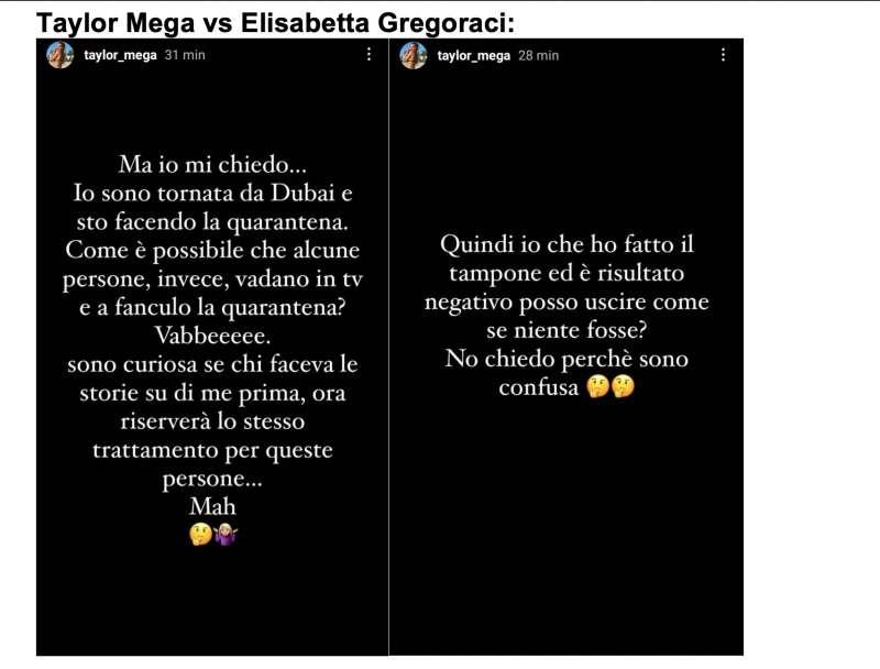 taylor mega vs elisabetta gregoraci