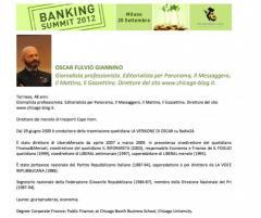 BANKING SUMMIT CURRICULUM DI OSCAR GIANNINO CON MASTER E LAUREE FINTE