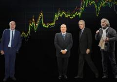 Bersani, Berlusconi, Monti, Grillo e lo spread