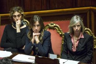 MADIA BOSCHI GIANNINI FIDUCIA AL GOVERNO RENZI IN SENATO FOTO LAPRESSE