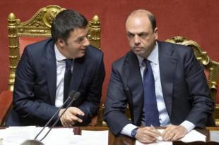 RENZI E ALFANO IN SENATO FOTO LAPRESSE