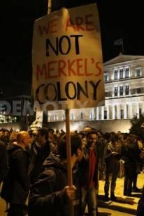 ateniesi pro governo contro austerita non siamo colonia di merkel