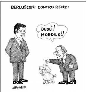 BERLUSCONI VS RENZI BY GIANNELLI