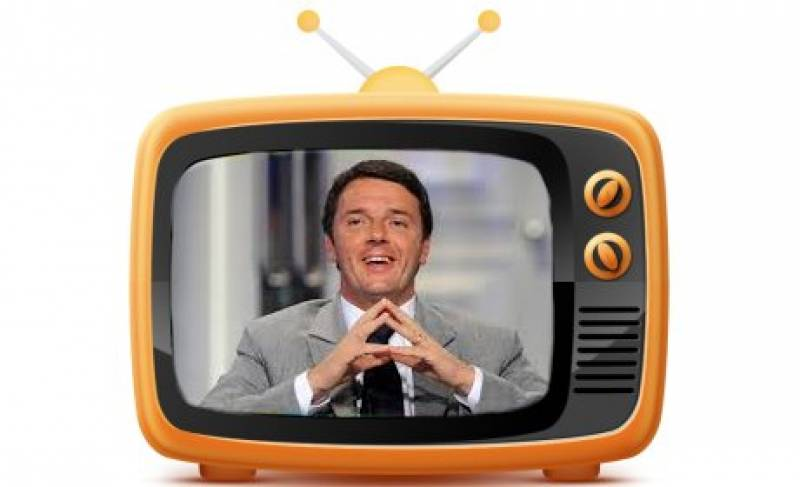 Risultati immagini per renzi in tv