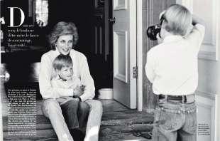 lady diana foto con i figli william e harry foto di demarchelier