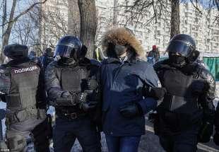 arresti alla protesta per la liberazione di navalny 8