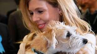 carrie symonds e il cane dilyn 5