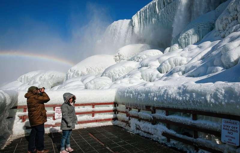 cascate del niagara ghiacciate 8