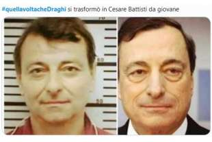 cesare battisti e mario draghi