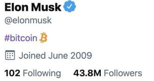 elon musk mette bitcoin nella bio twitter