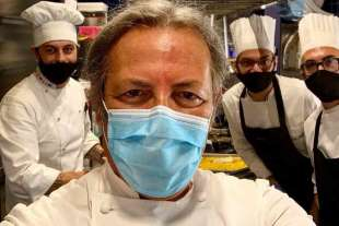 Filippo La Mantia con la mascherina