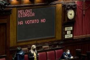 GIORGIA MELONI VOTA NO ALLA FIDUCIA A MARIO DRAGHI