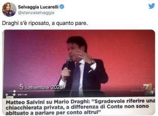 TWEET DI SELVAGGIA LUCARELLI SU CONTE CHE VOLEVA DRAGHI ALLA COMMISSIONE UE