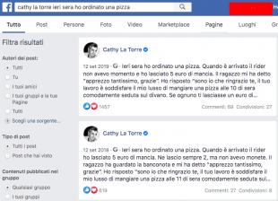 i post in fotocopia di cathy la torre con la pizza