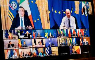 MARIO DRAGHI - CONSIGLIO EUROPEO IN VIDEO CONFERENZA