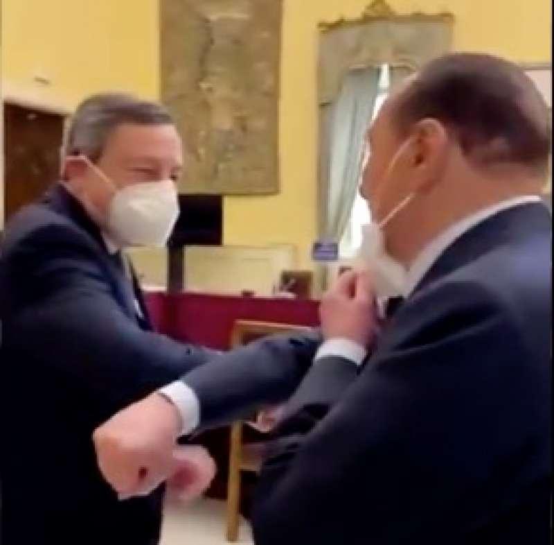 MARIO DRAGHI E SILVIO BERLUSCONI